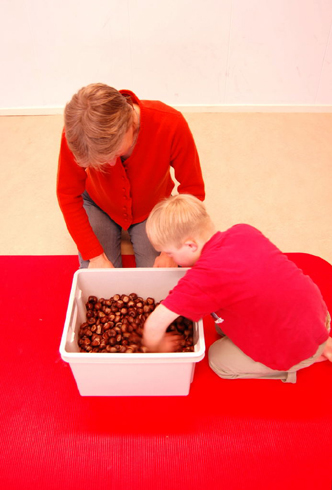 playing with chestnuts